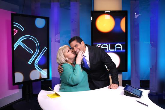 Ismael Cala con Cristina Saralegui, una de las mujeres más poderosas del mundo de la televisión