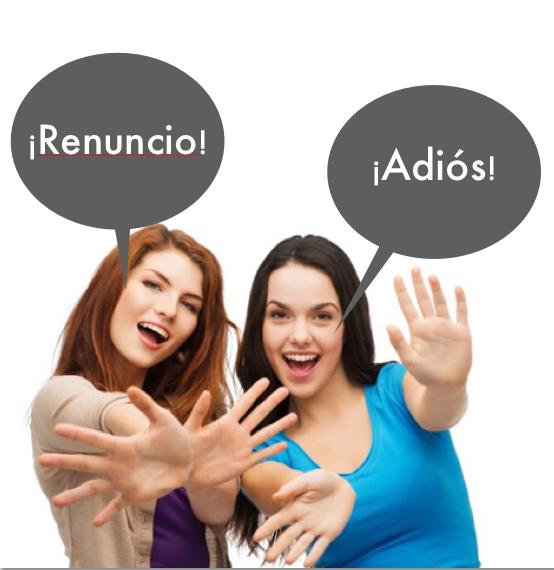 Estudia la forma correcta de renunciar a un trabajo. No lo hagas en forma graciosa o vengativa. Photo Credit: www.veintitantos.com