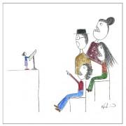 Temor a hablar en público ilustración de Nadia Ackerman