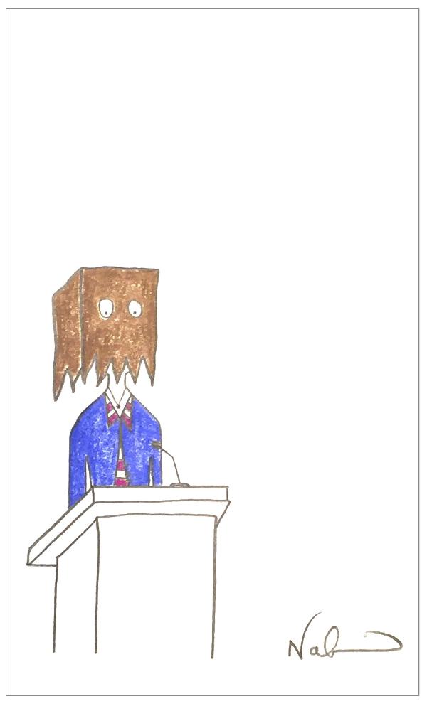 Miedo a hablar en público dibujo de Nadia Ackerman