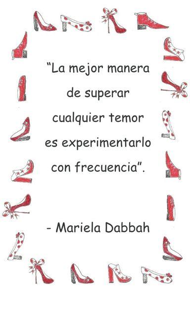 Temor de hablar en publico frase inspiradora de Mariela Dabbah