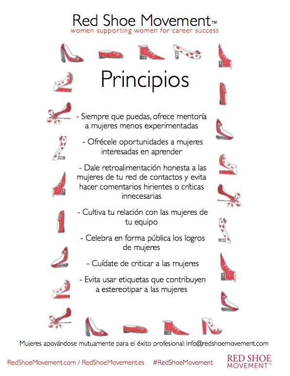 Poster de 7 Principios del Red Shoe Movement