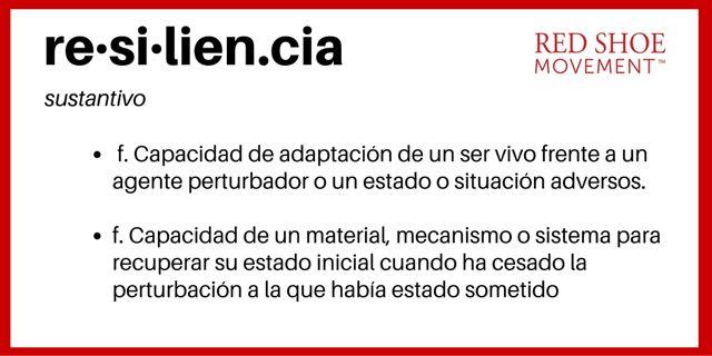 Definicion de resiliencia según el Diccionario de la Real Academia Española