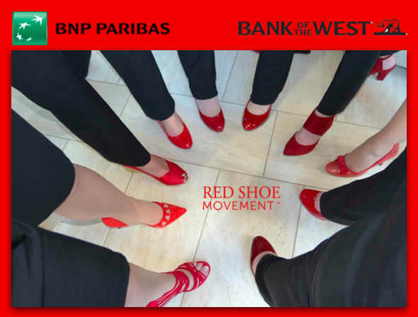 Celebrando #RedShoeTuesday Bank of the West