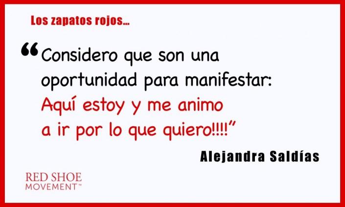 Alejandra Saldías considera que los zapatos rojos son una potente declaración.