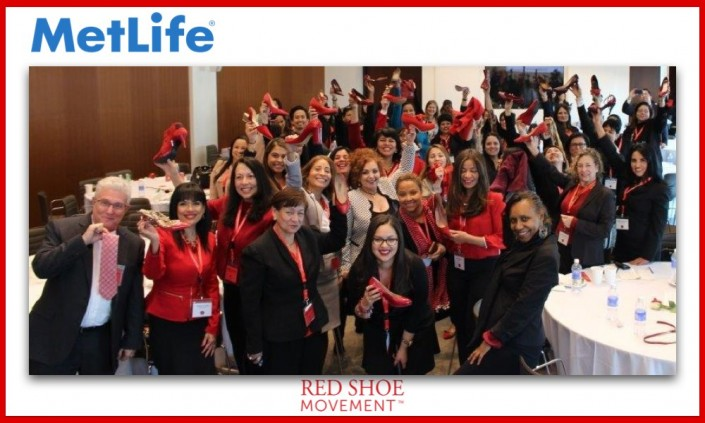 Nuestro evento anual del Red Shoe Movement patrocinado por MetLife en NYC