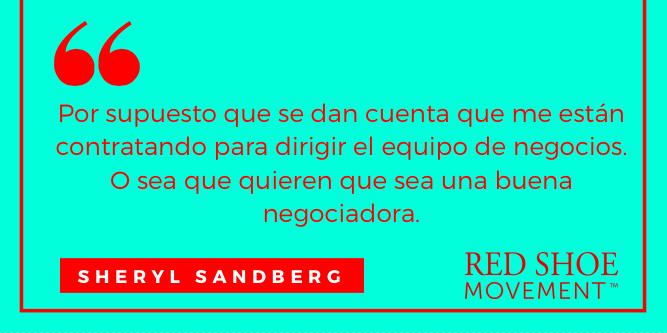 Cita inspiradora sobre negociación de Sheryl Sandberg