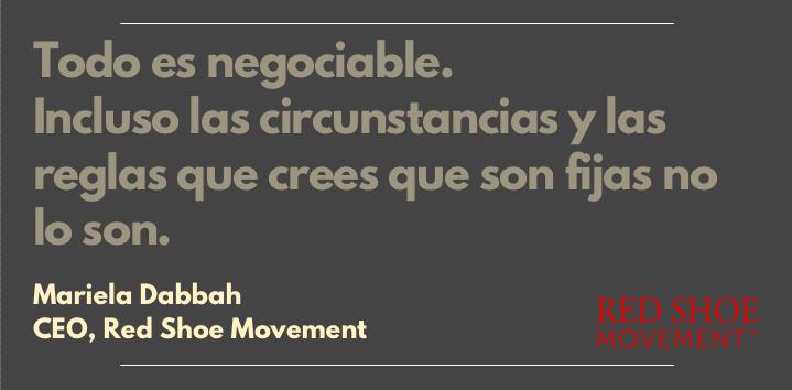 Frase inspiradora sobre negociación de Mariela Dabbah