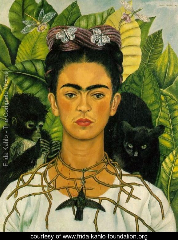 Frida Kahlo Self Portrait with Monkeys- Foto Cortesía de la Frida Kahlo Foundation- www.frida-kahlo-foundation.org