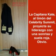 La Capitana Kate del Celebrity Summit le da un toque femenino a un trabajo tradicionalmente de hombres