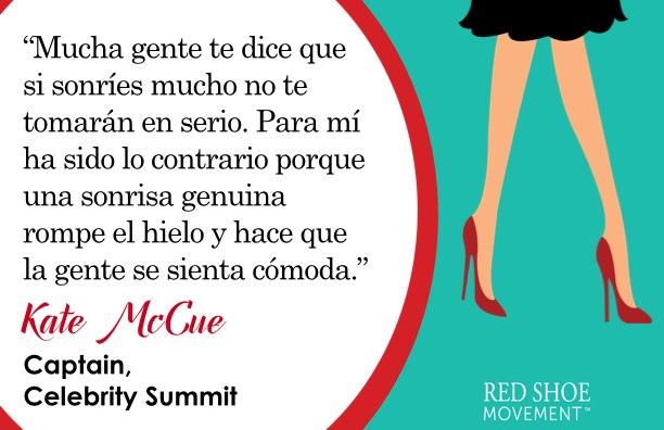 Una sonrisa te abre puertas, dice Kate McCue, capitana del Celebrity Summit