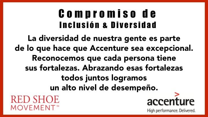 Compromiso de Accenture sobre Inclusión y Diversidad. Una excelente forma de promover el liderazgo femenino en la organización.