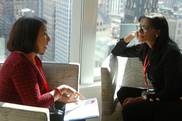 Repiensa una conversación difícil que estás postergando como una conversación pendiente. Foto tomada en el RSM Signature Event NYC.