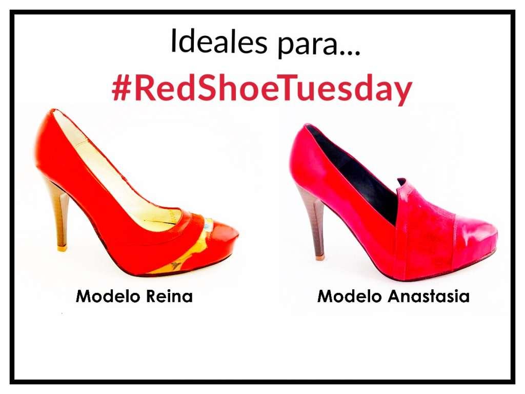 Dos modelos perfectos para #RedShoeTuesday