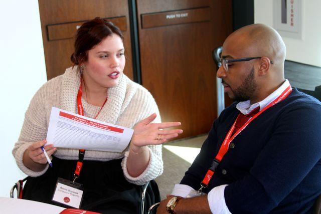Planifica cuál es el resultado que buscas antes de tener una conversación. Foto tomada en RSM Signature Event NYC