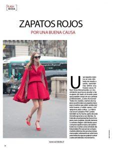 La nota que le hicieron a Paola Peña en la Revista Vanidades, Chile, sobre el Red Shoe Movement