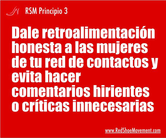 Saber cómo dar feedback es uno de los principios más importantes del RSM.