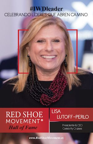 Lisa Lutoff-Perlo, Presidente y CEO de Celebrity Cruises honrada en el Salon de la Fama del Red Shoe Movement.