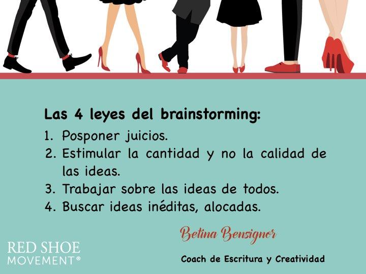 4 leyes de brainstorming exitoso