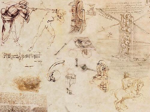 Los cuadernos de Da Vinci dan cuenta de sus procesos creativos. Puedes aumentar tu creatividad aplicando sus técnicas.
