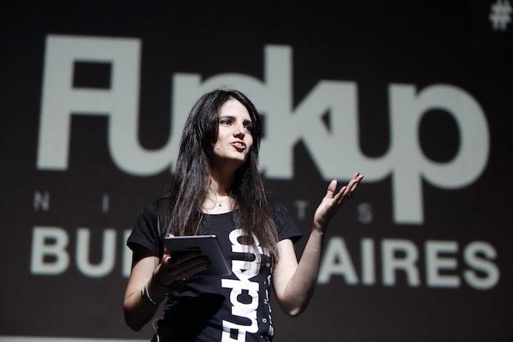 Aprender del error. Ale Marcote organiza y conduce las Fuckup Night en Buenos Aires Créditos: Néstor Barbita/Sandra Cartasso - Gentileza CCGSM