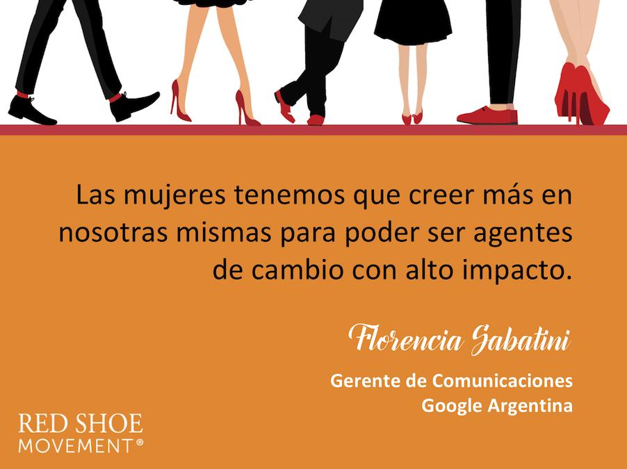 Insights de Florencia Sabatini para que las mujeres sean agentes de cambio de alto impacto.