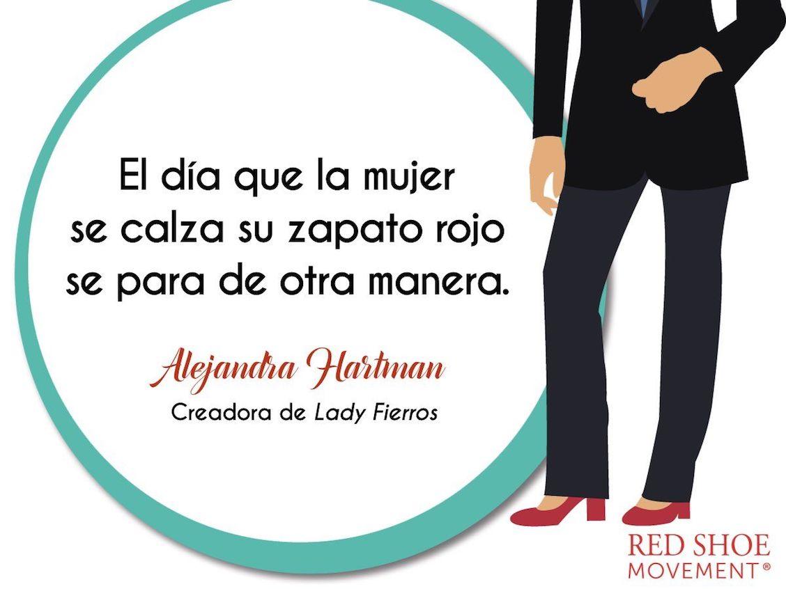 Todos los martes, Alejandra Hartman se calza zapatos rojos en honor al #RedShoeTuesday!