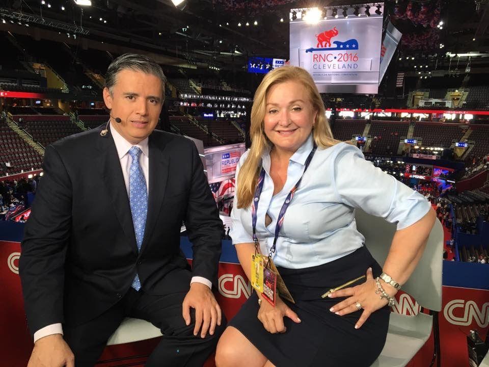 Cynthia Hudson y Juan Carlos Lopez de CNNE