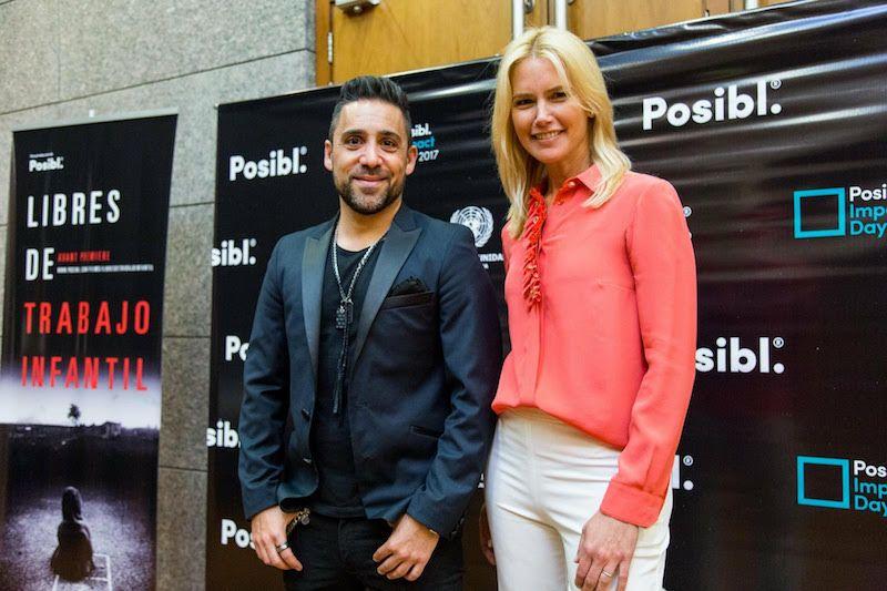 Martin Parlato junto a Valeria Mazza en Posibl.Impact Day