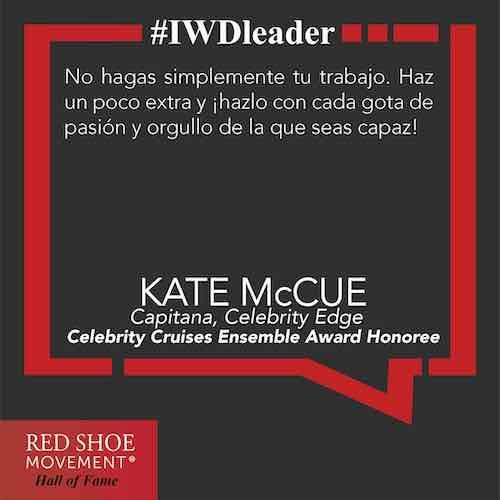 Kate McCue, un ejemplo de líder que contribuye a eliminar la brecha de género en el mar