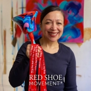 Scherezade Garcia with Red Shoe Movement 20:20 Bell