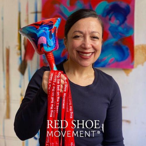 Scherezade Garcia with Red Shoe Movement 20:20 Bell