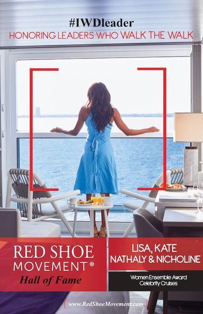 El primer premio Red Shoe Movement Hall of Fame Ensemble Award se le otorga a Celebrity Cruises