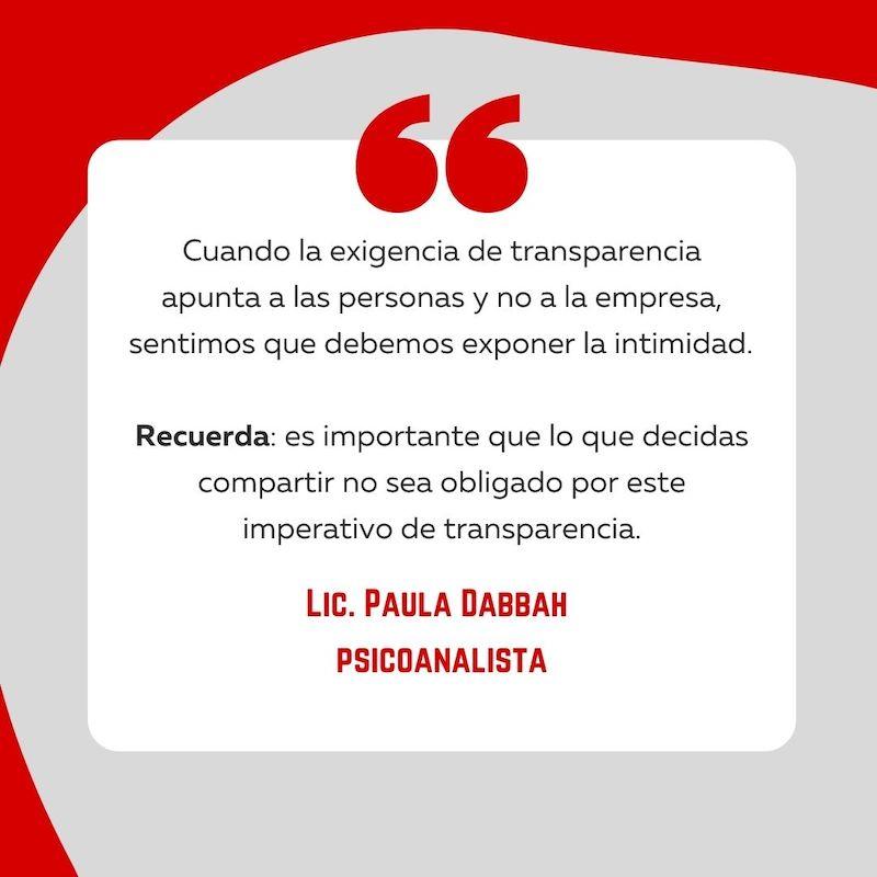 Ser Transparente cita de Paula Dabbah