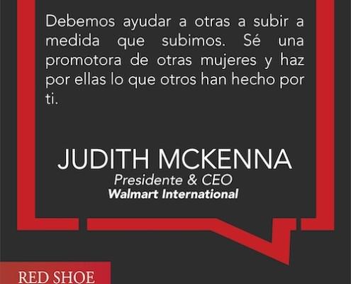 Judith McKenna, Presidente & CEO de Walmart International nos inspira