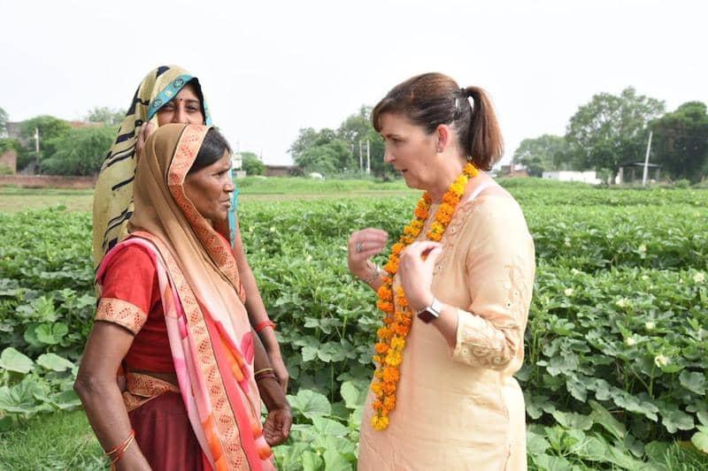 Judith McKenna en su viaje a la India 2019
