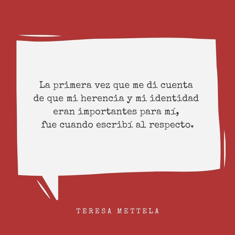 Periodismo- Teresa Mettela sobre su identidad