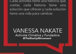 Vanessa Nakate propone educar niñas como una solución al cambio climático